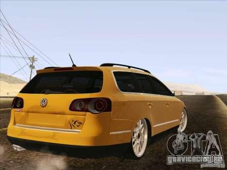 Volkswagen Passat B6 Variant для GTA San Andreas вид слева