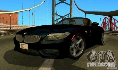 BMW Z4 2010 для GTA San Andreas вид сзади