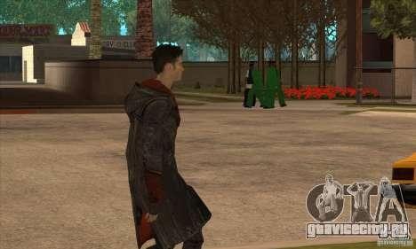 Dante из Devil May Cry для GTA San Andreas третий скриншот