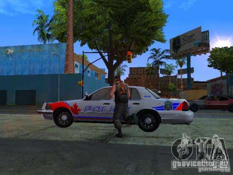 Ford Crown Victoria Police Patrol для GTA San Andreas вид сзади слева