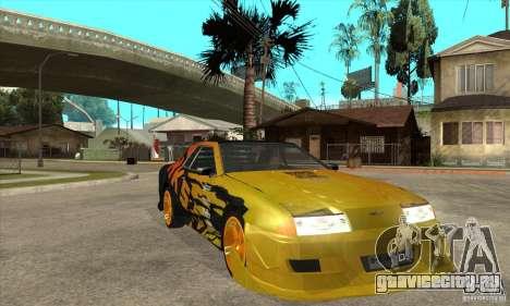 Tuneable Elegy v0.1 для GTA San Andreas вид сзади