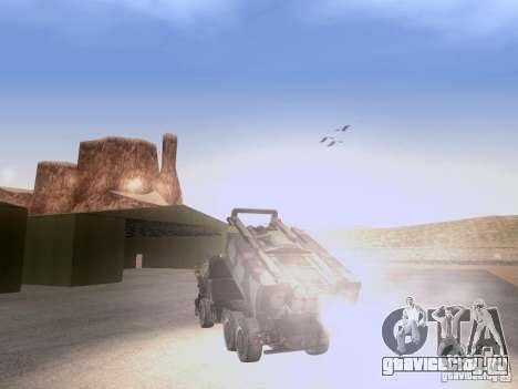 M142 HIMARS Artillery для GTA San Andreas вид сзади