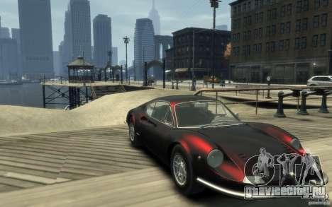 Ferrari Dino 1969 для GTA 4 вид сзади