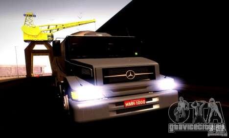 Mercedes-Benz L1620 Tanque для GTA San Andreas вид сзади слева