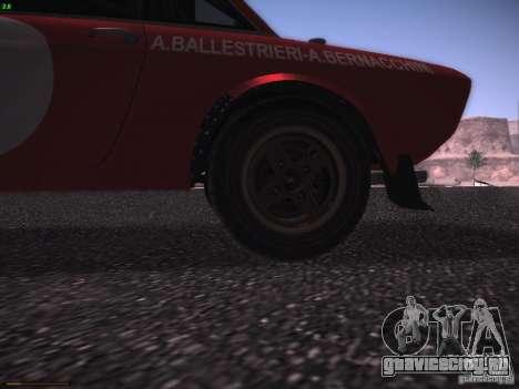 Lancia Fulvia Rally Marlboro для GTA San Andreas вид изнутри