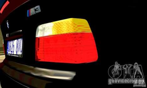 BMW  M3 Е36 для GTA San Andreas вид сзади