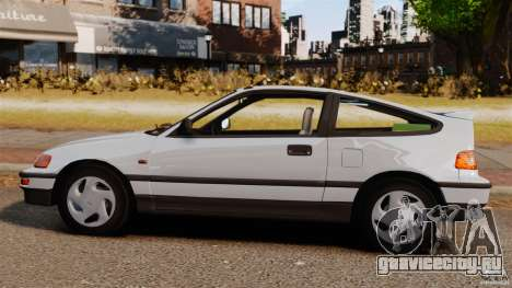 Honda CRX 1991 для GTA 4 вид слева