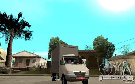 Mercedes-Benz Sprinter Truck для GTA San Andreas вид сзади