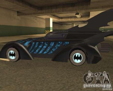 Batmobile 1995 для GTA San Andreas вид сзади слева