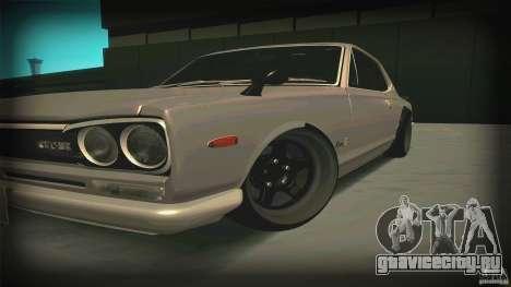 Nissan Skyline 2000GT-R JDM Style для GTA San Andreas вид слева