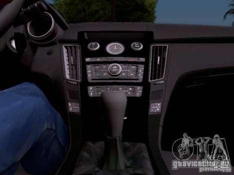 Cadillac CTS-V 2009 для GTA San Andreas вид снизу