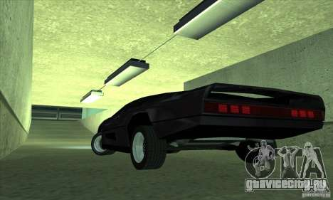 Dodge M4S Turbo Interceptor Wraith 1984 для GTA San Andreas вид сзади слева