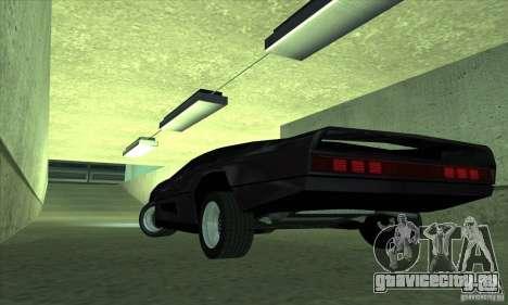 Dodge M4S Turbo Interceptor Wraith 1984 для GTA San Andreas вид сзади слева