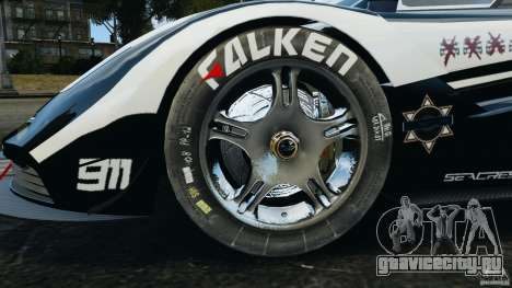 McLaren F1 ELITE Police [ELS] для GTA 4 вид сзади