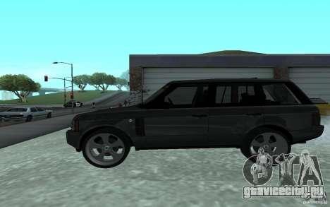 Land Rover Supercharged для GTA San Andreas вид слева