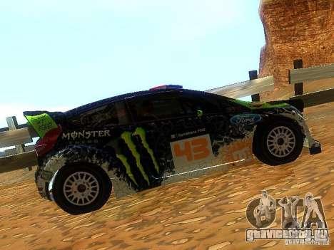 Ford Fiesta RS WRC 2012 для GTA San Andreas вид слева