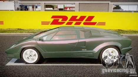 Lamborghini Countach v1.1 для GTA 4 вид слева