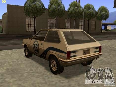 Ford Fiesta 1981 для GTA San Andreas вид слева