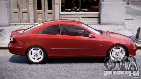 Mercedes-Benz CLK 63 AMG 2005 для GTA 4 вид сверху