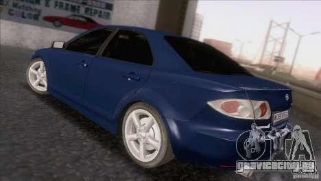 Mazda 6 2006 для GTA San Andreas вид сзади слева