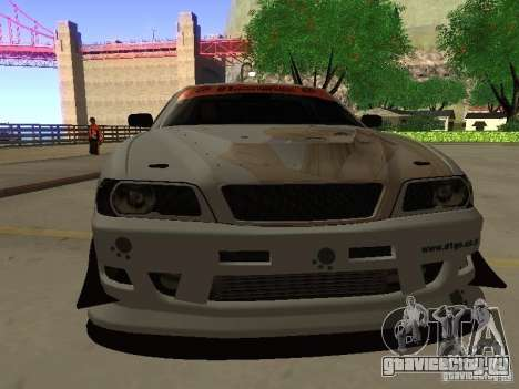 Toyota Chaser JZX100 Tuning by TCW для GTA San Andreas вид сзади