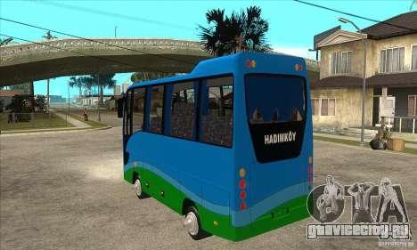 Iveco Eurocity для GTA San Andreas вид сзади слева
