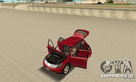 Nissan Murano 2004 для GTA San Andreas вид сзади