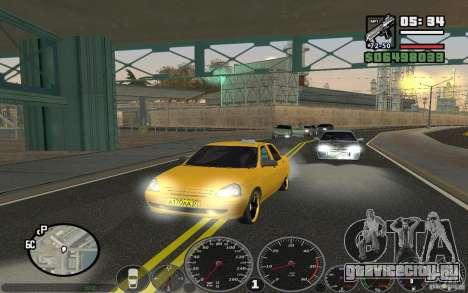 ВАЗ Лада Приора Такси для GTA San Andreas вид слева