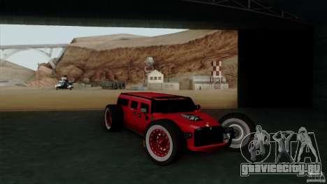Hummer H2 The HumROD для GTA San Andreas вид справа