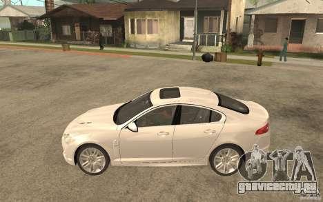 Jaguar XFR для GTA San Andreas вид слева