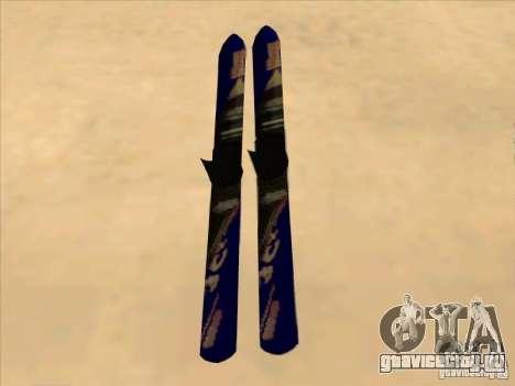 Ski - лыжи для GTA San Andreas вид сзади слева