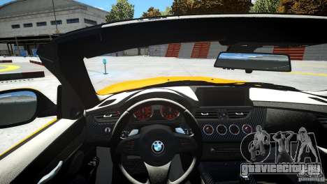 BMW Z4 sDrive 28is для GTA 4 вид изнутри