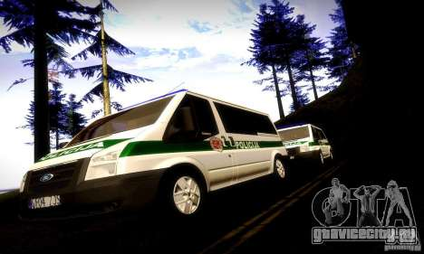 Ford Transit Policija для GTA San Andreas вид сзади