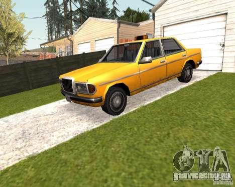 Admiral Taxi для GTA San Andreas вид сзади слева