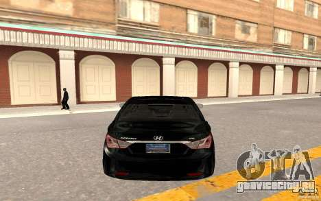 Hyundai Sonata 2012 для GTA San Andreas вид сзади