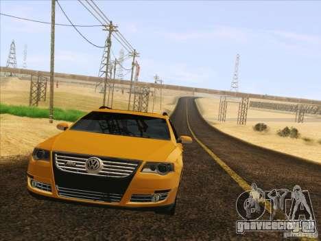 Volkswagen Passat B6 Variant для GTA San Andreas вид сверху