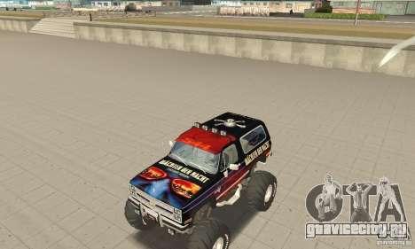 Chevrolet Blazer K5 Monster Skin 5 для GTA San Andreas вид слева