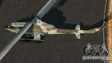 Bell AH-1 Cobra для GTA 4 вид справа