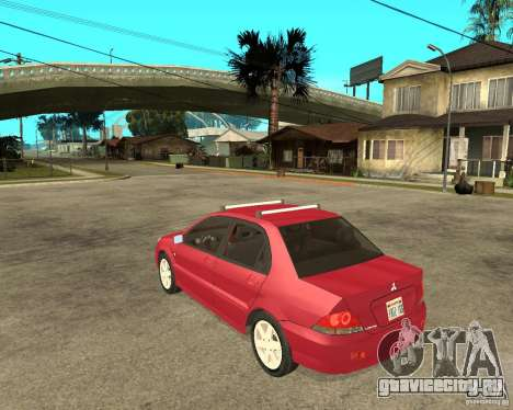 Mitsubishi Lancer 2005 для GTA San Andreas вид слева