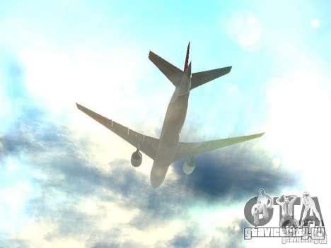 Boeing 777-200 Japan Airlines для GTA San Andreas вид снизу