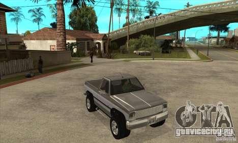 Ford Ranger для GTA San Andreas вид изнутри