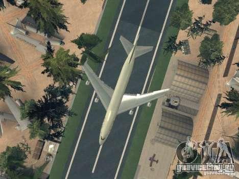 Boeing 747-100 Pan American Airways для GTA San Andreas вид сбоку
