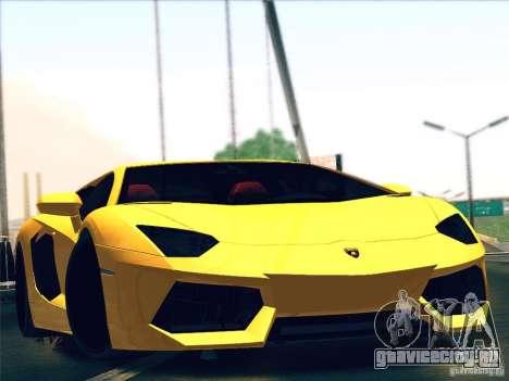 Lamborghini Aventador LP700-4 2011 V1.0 для GTA San Andreas вид изнутри