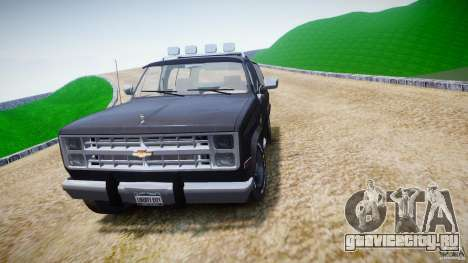 Chevrolet Blazer K5 Stock для GTA 4 вид сбоку