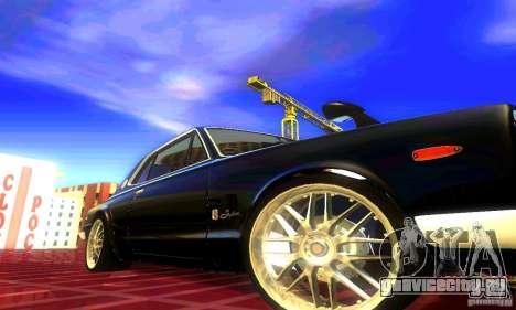 Nissan Skyline 2000-GTR для GTA San Andreas вид сзади слева