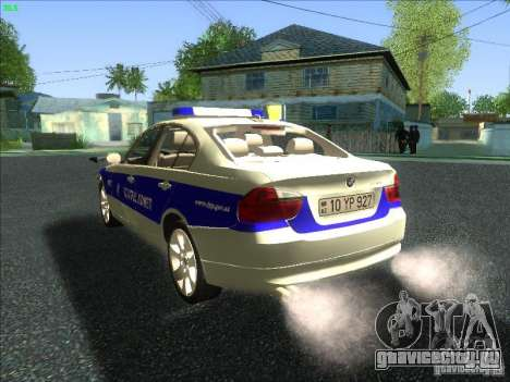 BMW 330i YPX для GTA San Andreas вид сзади слева