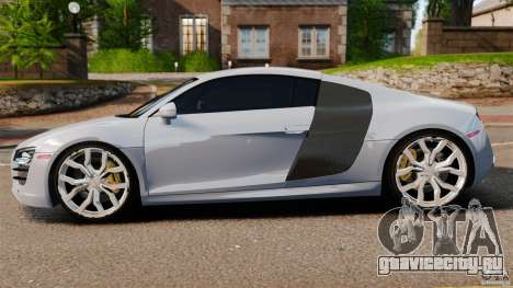 Audi R8 5.2 Stock 2012 Final для GTA 4 вид слева