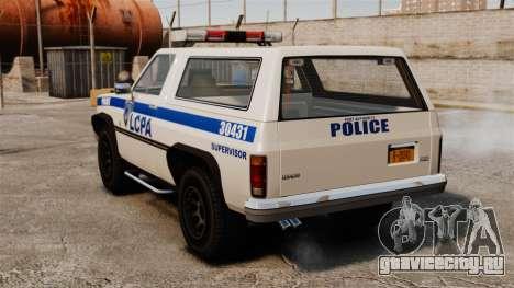 Полицейский Rancher ELS для GTA 4 вид сзади слева