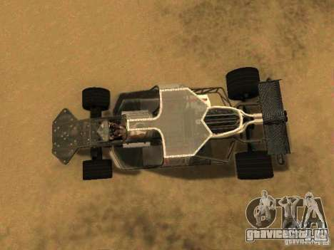 Fast & Furious 6 Flipper Car для GTA San Andreas вид сзади