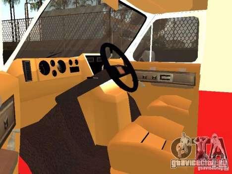 Chevrolet Van G20 LAFD для GTA San Andreas вид сзади